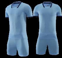 תלבושת כדורגל אפור דמוי אתלטיקו מדריד  (לוגו+ספונסר שלכם)