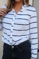 חולצת הילי פסים שחור לבן