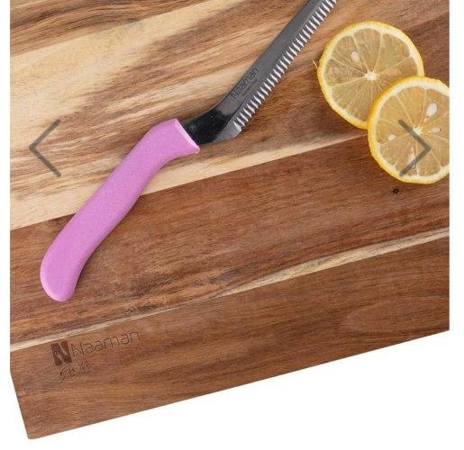סכין חיתוך משוננת סכין אחת שחותכת הכל במגוון צבעים שונים