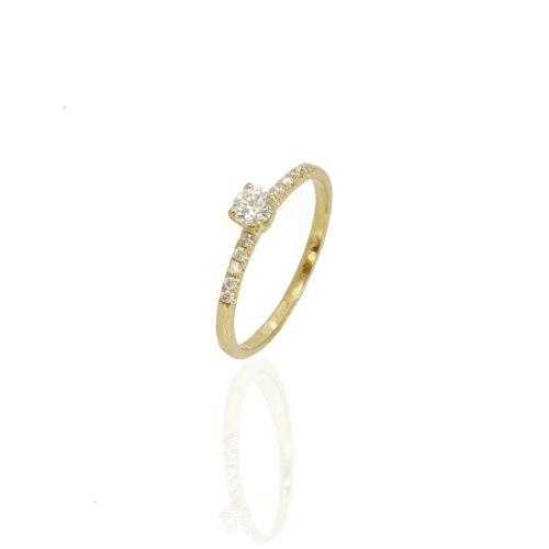 טבעת יהלומים 0.35 קראט | טבעות אירוסין זולות