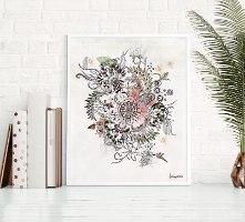תמונה של פרחים ממוסגרת