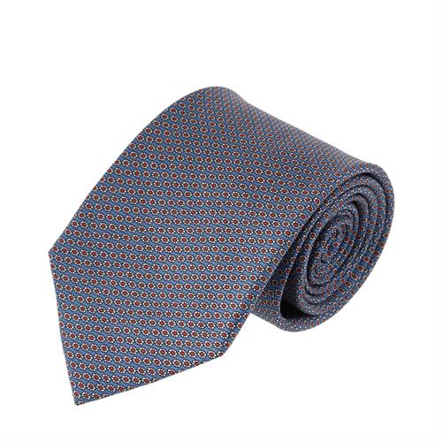 עניבה דגם גלגלים שילוב תכלת אדום