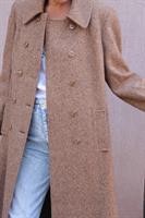 מעיל צמר חום ארוך מידה L