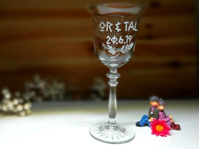 כוס יין לחופה   כוסות יין מעוצבות לחתונה   סגנון וינטאג'