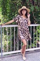 שמלת קוואצ'לה מנומרת