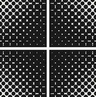 4 יח' טפט להדבקה על דלת כוורת (KALLAX)- שחור ולבן שילובי צבעים