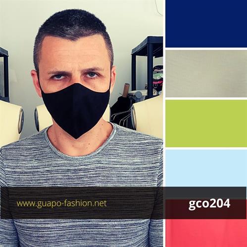 מסכת בד שחורה חלקה cotton facemask