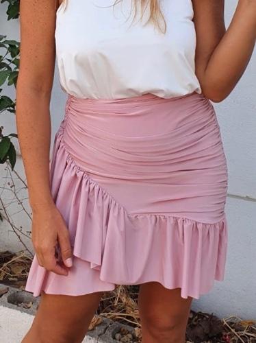 חצאית CROSS ורודה