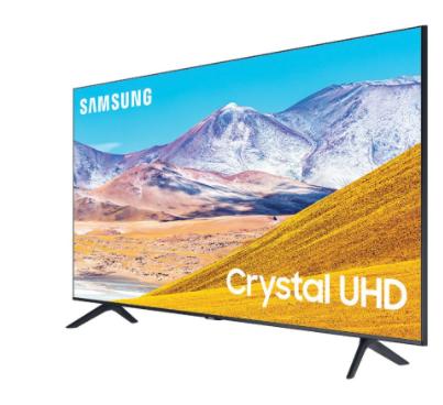 """טלוויזיה בגודל 82"""" דגם SAMSUNG LED סמסונג UE82TU8000 דקה יוקרתית ללא מסגרת גימור שחור"""