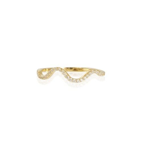 טבעת איטרניטי  זרקונים דגם גל