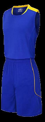 תלבושת כדורסל בעיצוב אישי Blue דגם #6018
