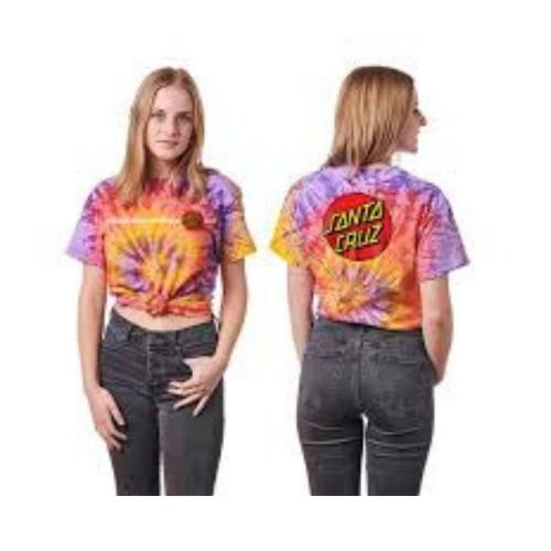 SANTA CRUZ Classic Dot Fitted Crew S/S Santa Cruz Womens T-Shirt