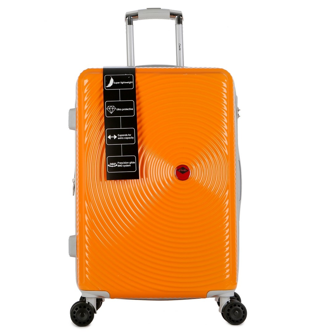 """מזוודה יוקרתית בינונית 24"""" של המותג האוסטרלי Courier - צבע כתום"""