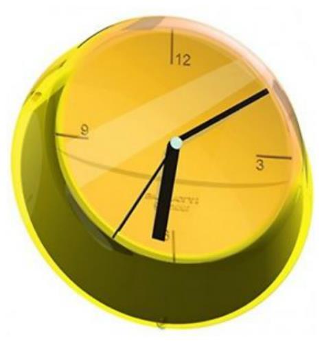שעון קיר GLAMOUR צהוב