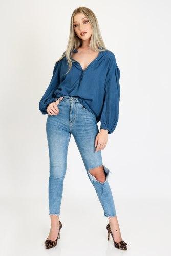 חולצת לילוש כחול מיוחד