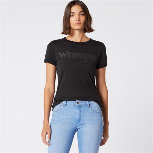 טישירט שחורה WRANGLER לוגו שחור