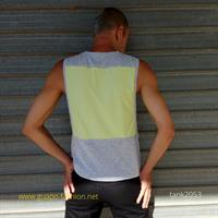 sleeveless t-shirt with dropped armhole
