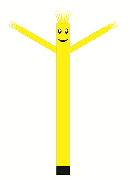 בובת דנסר רוקדת בגובה 6 מטר - צבע צהוב