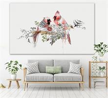 ציור גדול מעל ספה