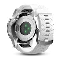 Garmin Fenix 5S Silver with Carrara white band שעון דופק