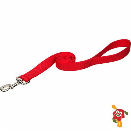 """רצועה לכלב - אדום מידה S (מתאים עד 9 ק""""ג)"""