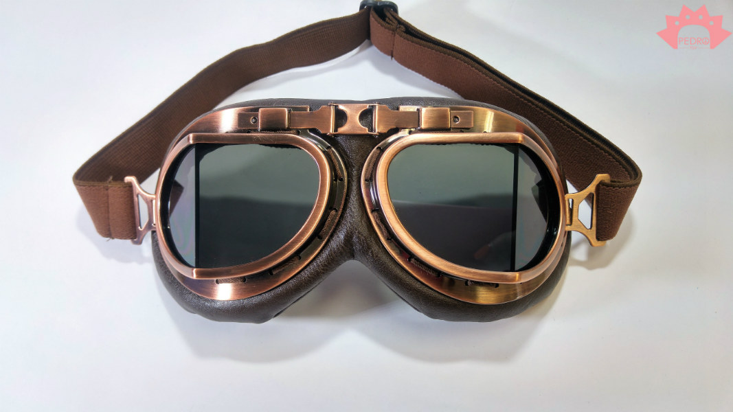 משקף מירוץ צבע קופר - משקף רוח - משקפי סטימפנק - משקף STEAMPUNK - מידברן