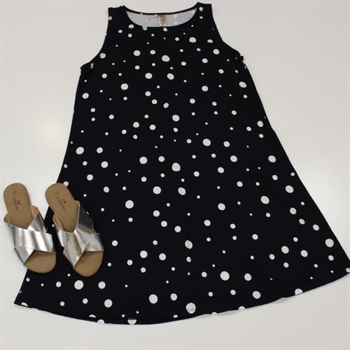שמלה גופיה מתרחבת נקודות