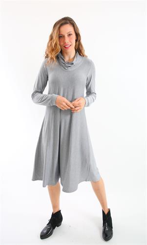 שמלת גלי אפור גאומטרי