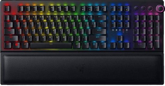 מקלדת גיימינג מכאנית אלחוטית Razer BlackWidow V3 Pro Green Switch - צבע שחור