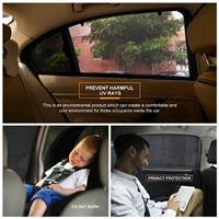 זוג מגני שמש לחלונות אחוריים ברכב