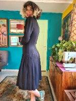שמלה שחורה מעודנת מידה L/XL