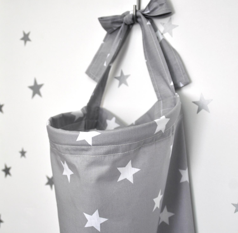 סינר הנקה אפור כוכבים