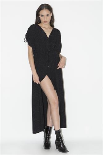 שמלת קריסטל שחורה