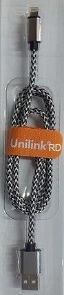 כבל USB לאייפון מהיר 1 מטר UNILINK טעינה ונתונים