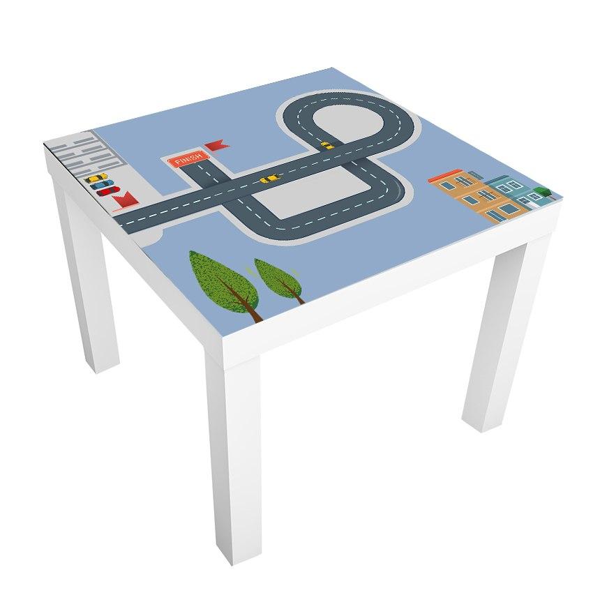 1 יח' טפט דביק מותאם לשולחן (LACK)- מסלול מכוניות