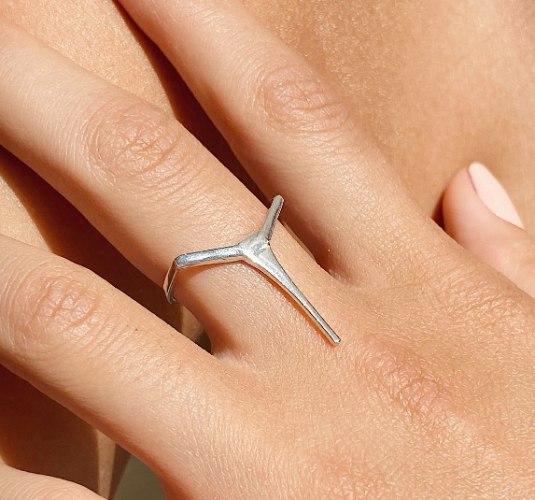 טבעת Long Tapered Bar כסף