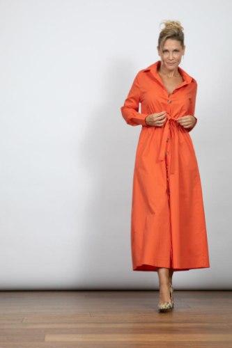 שמלת מקסי כפתורים