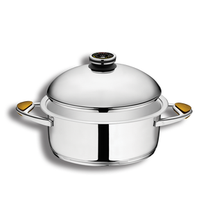"""סיר לבישול בריא בנפח 6 ליטר, קוטר 30 ס""""מ"""