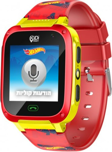 KidiWatch- שעון טלפון חכם דגם הוט ווילס - Hot Wheels