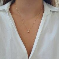 שרשרת יהלום | תליון יהלום 0.43 קראט