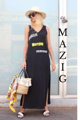 שמלה מקסי MAZIG
