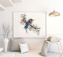 תמונה לבית של ציפור כחולה