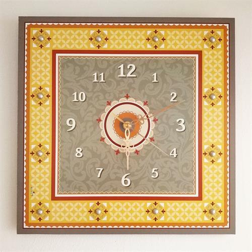 שעון קיר מעוצב - מלבנים (אריחים) - דוגמא