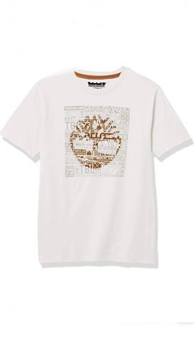 חולצה לבנה לוגו קאמל timberland