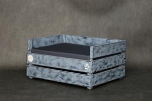 מיטה לכלב - דינגו אפור לולה עם לייסט נוסף M