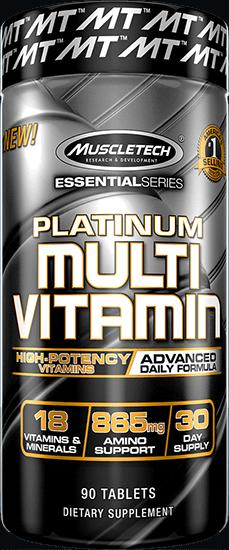 מולטי ויטמין פלטינום|90 טבליות - מאסלטק USA