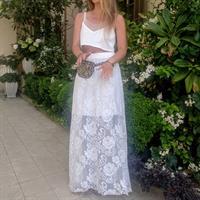 חצאית קרושה לבנה