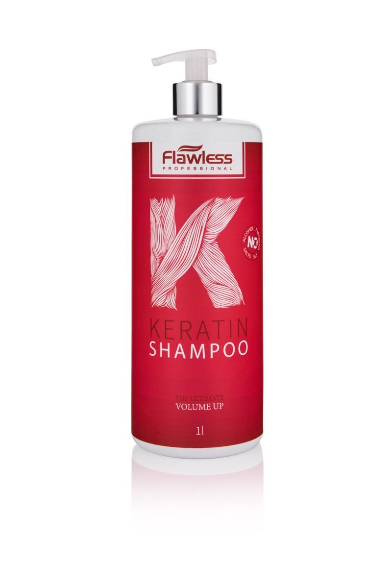 שמפו קרטין לשיער דק ללא מלחים flawless