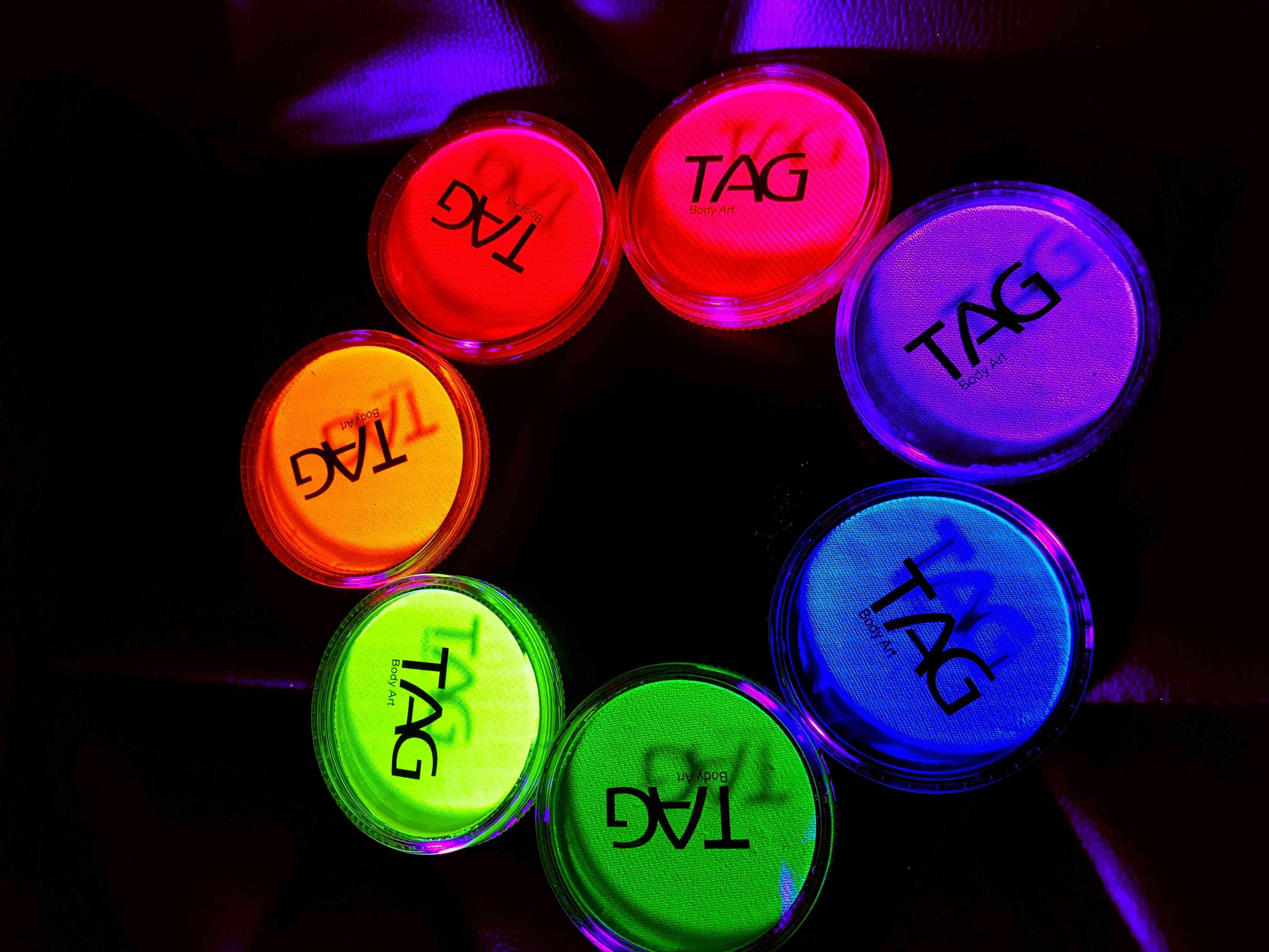 TAG - Ultra colors 32 gr  צבעי נאון זוהרים באולטרא