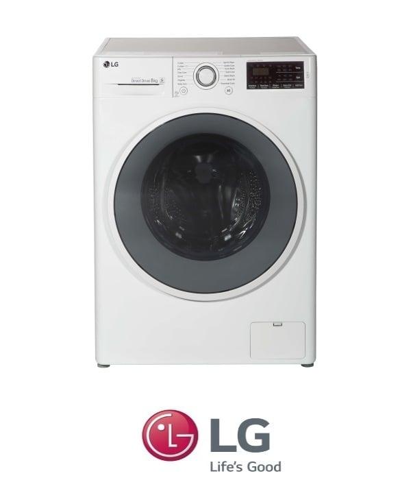 "LG מכונת כביסה 8 ק""ג  דגם F- 0814WW0"